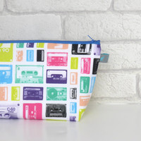Retro Tape Cassette Wash Bag / Toiletry Bag for music fans