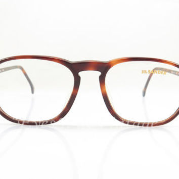 Jil Sander , Vintage Eyeglasses , Brown Tortoise , Keyhole Nose Bridge , Sunglass Frames , New Old Stock