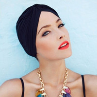 Women's Fashion Turban Head Wrap in Beige