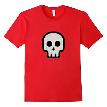 Funny Cute Pirate Skull Skeleton Emoticon T-Shirt