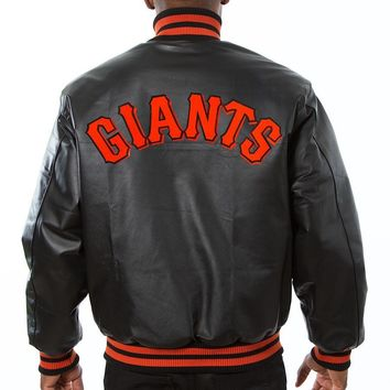 San Francisco Giants mens all leather jacket