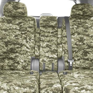 CalTrend Front 40/20/40 Split Bench Custom Fit Seat Cover for Select Nissan Titan Models - Camouflage (Forest)