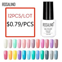 (12PCS/SET)ROSALIND Gel Nail Polish Set For Manicure Nail Extension Kit Nail Art Gel Lacquer Acrylic UV LED Lamp Design Set
