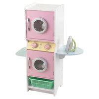 Pastel Laundry Set, Pink/White, Children's Toys