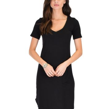 Lyss Loo Truly Madly Deep-V Neck Black Sleep Dress