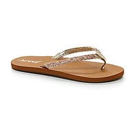 Reef Girls' Little Twisted Star Flip Flip Sandals - Tan/Pink