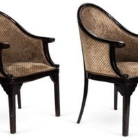 One Kings Lane - Kelly Wearstler: Modern Glamour - Round-Back Chairs, Pair