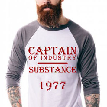 Captain of Industry Hipster T-Shirt, Beards and Tattoos T-Shirt, DTG Graphic Tee