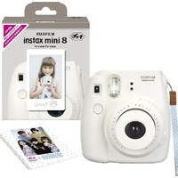 1 X Fuji Instax Mini 8 N White + Original Strap Set Fujifilm Instax Mini 8N Instant Camera