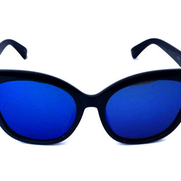 Show Some Shade Sunnies-Mirrored Blue