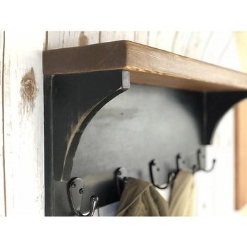 The Braddock Coat Rack with Shelf