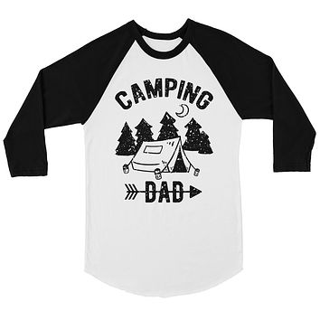 Camping Dad Mens Baseball Shirt Energetic Cool Unique Father's Day