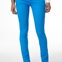 Britt Low-Rise Skinny Color Jean Electric Blue