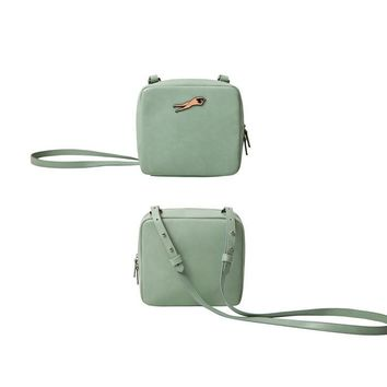 YiZi Leather Mini Crosbody Bag/Light Green Swim