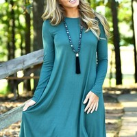 The Nellie Dress in Forest   Monday Dress Boutique