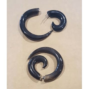 "Black Horn ""Circle of Life"" Earrings"