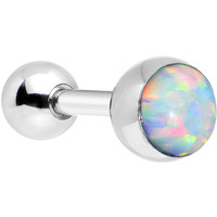 16 Gauge 5mm Imitation White Opal Tragus Cartilage Earring | Body Candy Body Jewelry