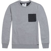 On The Byas Briggs Printed Pocket Crew Fleece - Mens Hoodies - Gray