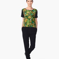 """Fiesta Time! Mexican Icons"" Women's Chiffon Top by Gravityx9 