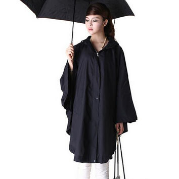 raincoat women cute trench coat female waterproof free breathing rain coat ponchos long travel capa de chuva chubasqueros mujer