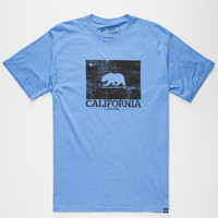Rip Curl Cal Bear Mens T-Shirt Royal  In Sizes