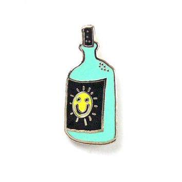 A Sunshine Beer Bottle Pin