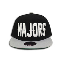 Black/Grey Majors Snapback