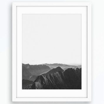 Mountain Photo, Nature Poster, Minimalist Art, Modern Home Decor, Printable Artwork, Digital Print, Mountain House Art, Landscape Photo