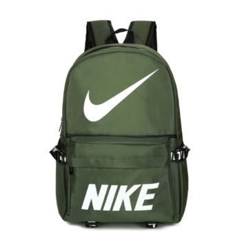 Unique Nike Unisex Army Green Sport Backapck School Bag Travel Bag Laptop Bag