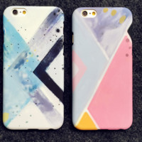 Fashion creative stripe oil painting Case Cover for Apple iPhone 5s 5 SE 6 6S 6 Plus 6S Plus 16090704003