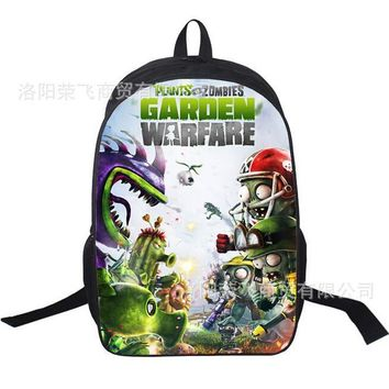 One Piece Plants vs Zombies School Backpack For Teenage Girl Boy Primary Student Schoolbags For Kids Children Bookbag