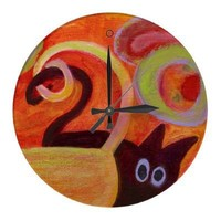 cat clock from Zazzle.com