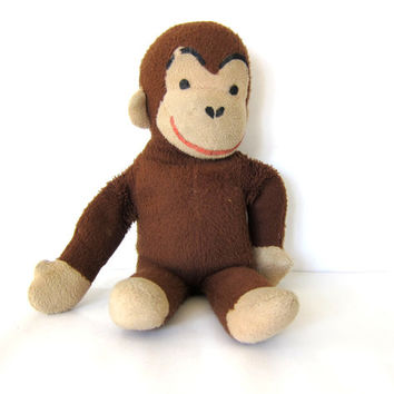 Vintage Curious George Monkey stuffed animal / plush antique doll