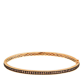 Levian Gold Diamond Bangle Bracelet in 14 Kt Strawberry Gold