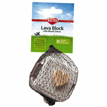 Kaytee Pumice Lava Block Small Animal Chew Toy