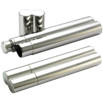 MG Gifts Cigar Holder With 1 Oz Flask