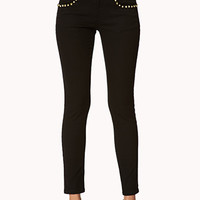 Spiked Skinny Jeans