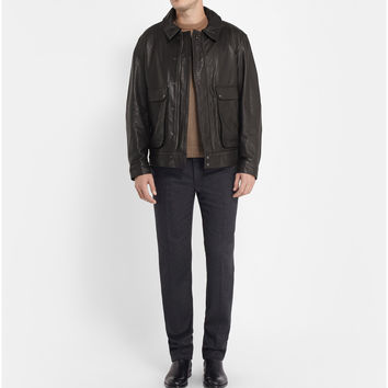 Christophe Lemaire - Leather Bomber Jacket | MR PORTER