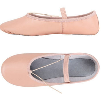 2017 Professional Ballet Shoes Slippers Women Girls Toddler Genuine Leather Zapatillas Ballet Full Split Sole Ballet Dance Shoe