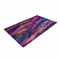 "Ebi Emporium ""Marble Idea! - Rich Jewel Tone"" Purple Pink Woven Area Rug"
