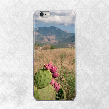 Cactus iPhone 7 Phone Case, Desert iPhone 6 Plus Case, Nature iPhone Case, Utah Phone Case, 6S Case Utah Desert, Prickly Pear, Castle Valley