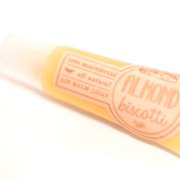 SALE - Almond Biscotti - All Natural - Lip Balm Jelly - Sweetly Spiced Almond Bread