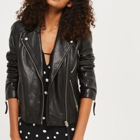 Topshop Rosemary Leather Biker Jacket | Nordstrom