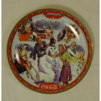 Bradford Exchange 18851A * Coca-Cola Collector Plate 5 3/4in January 1999 Porcelain  -- Used