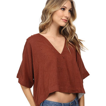 Free People Cotton Voile Away We Go Pullover Sienna - 6pm.com