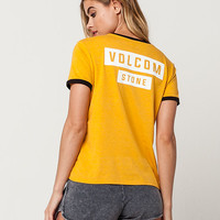 VOLCOM Stone Hands Womens Ringer Tee | Graphic Tees