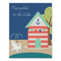 Nautical Beach, Lake House Poster