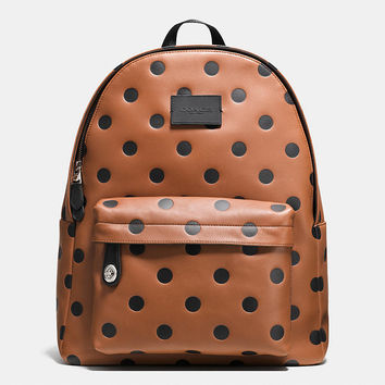 Campus Backpack in Saddle Dot Leather