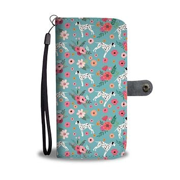 Dalmatian Flower Wallet Phone Case