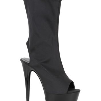 Black Platform Ankle Stripper Boots